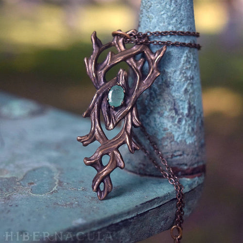 As Above So Below -- Hermetic Bronze & Emerald Pendant | Hibernacula