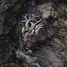 Load image into Gallery viewer, Compassionate Heart -- Anatomical Pendant in Bronze or Silver | Hibernacula