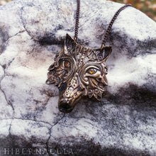 Load image into Gallery viewer, Wolf Prince -- Pendant In Bronze or Silver | Hibernacula