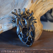 Load image into Gallery viewer, The Black Heart -- Anatomical Pendant In Bronze or Silver | Hibernacula
