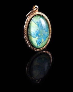 The Sky is Falling -- Brass Pendant with Original Artwork | Hibernacula