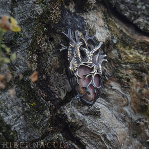 Compassionate Heart -- Anatomical Pendant in Bronze or Silver | Hibernacula