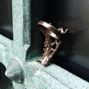 Hunter -- Jawbone Ring in Bronze or Silver | Hibernacula