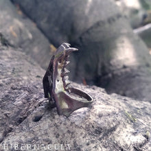 Load image into Gallery viewer, Hunter -- Jawbone Ring in Bronze or Silver | Hibernacula