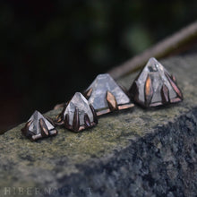 Load image into Gallery viewer, Apophyllite Pyramid -- Raw Crystal in Bronze or Silver Clasps | Hibernacula
