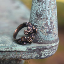 Load image into Gallery viewer, Hedge Rose -- Wrap Ring in Bronze or Silver | Hibernacula