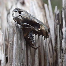 Load image into Gallery viewer, Tenacity -- Articulated Mink/Mustelidae Skull - Bronze Pendant or Sculpture | Hibernacula