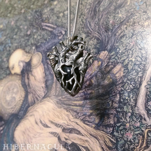 Heart of Stone -- Miniature Anatomical Heart Pendant in Onyx, Agate, or Pyrite | Hibernacula