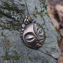 Load image into Gallery viewer, Dark Side of the Moon -- Twin Pendant in Bronze or Silver | Hibernacula