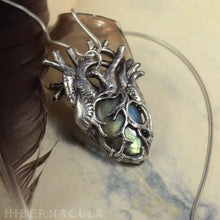 Load image into Gallery viewer, Heart of Winter -- Anatomical Labradorite Pendant in Bronze or Silver | Hibernacula