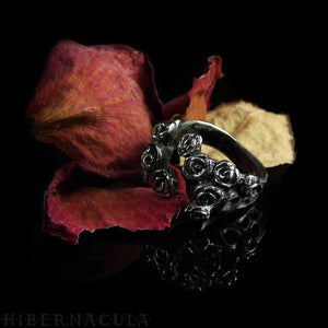 Hedge Rose -- Wrap Ring in Bronze or Silver | Hibernacula