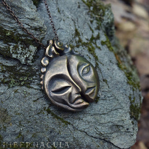 Dark Side of the Moon -- Twin Pendant in Bronze or Silver | Hibernacula