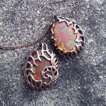 Load image into Gallery viewer, Primordia -- Picture Jasper Pendant in Bronze or Silver | Hibernacula