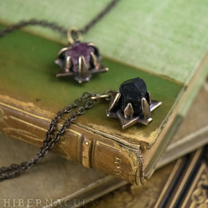 Hex Star -- Black Tourmaline in Bronze or Silver | Hibernacula