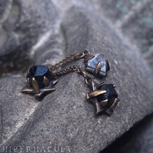 Load image into Gallery viewer, Hex Star -- Black Tourmaline in Bronze or Silver | Hibernacula