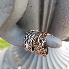 Load image into Gallery viewer, Berkana -- Birch Tree Wrap Ring in Bronze or Silver | Hibernacula