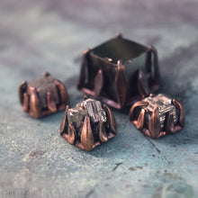 Load image into Gallery viewer, Pyrite Cube -- Cubic Crystal set in Bronze or Silver | Hibernacula
