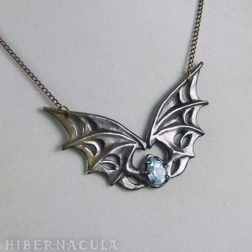 Nocturnal -- Winged Necklace in Bronze or Silver | Hibernacula