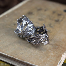 Load image into Gallery viewer, Wise Oak -- Leaf Wrap Ring in Bronze or Silver | Hibernacula