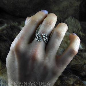 Berkana -- Birch Tree Wrap Ring in Bronze or Silver | Hibernacula