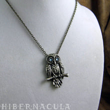 Load image into Gallery viewer, Spirit Owl -- Wise Totem Pendant in Silver | Hibernacula