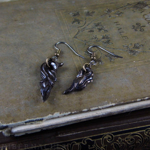 Prima Materia: Seed and Sprout -- Alchemical Earrings in Bronze or Silver | Hibernacula