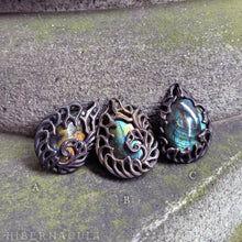 Load image into Gallery viewer, Aurora --  Labradorite Amulet in Bronze or Silver | Hibernacula