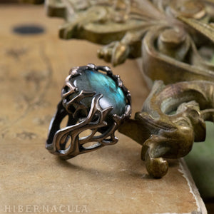 Enchanted Forest -- Labradorite Wrap Ring in Bronze or Silver | Hibernacula