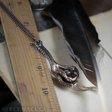 Load image into Gallery viewer, Witch's Talon -- Garnet with Bronze or Silver Talon | Hibernacula
