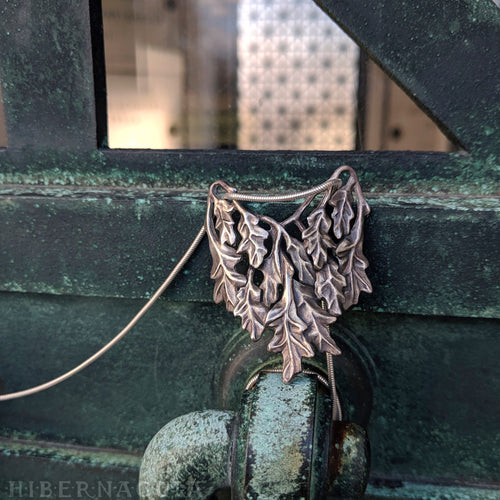 Oak Bough -- Pendant in Bronze or Silver | Hibernacula
