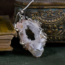 Load image into Gallery viewer, Worlds Within Worlds -- In Silver with Agate, Carnelian, Druzy Quartz Crystal | Hibernacula