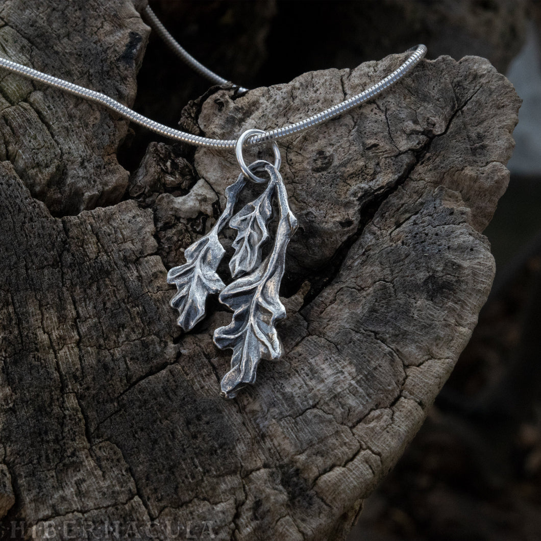 Oak Leaf -- Pendant in Bronze or Silver | Hibernacula