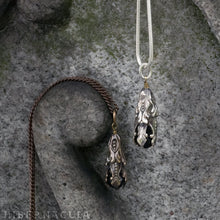 Load image into Gallery viewer, Blackfell Pendulum -- Jet Pendant in Bronze or Silver | Hibernacula