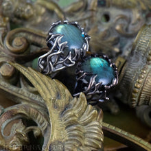 Load image into Gallery viewer, Enchanted Forest -- Labradorite Wrap Ring in Bronze or Silver | Hibernacula