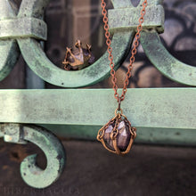 Load image into Gallery viewer, Amethyst Cradle Amulet -- Pendant In Bronze | Hibernacula