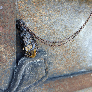 Burning Torch -- Citrine Quartz Crystal & Bronze | Hibernacula