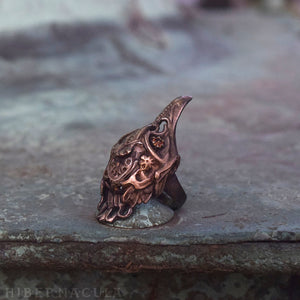 Firebird -- Bird Skull Ring in Bronze or Silver | Hibernacula
