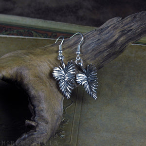 Grace -- Feather Earrings in Bronze or Silver | Hibernacula