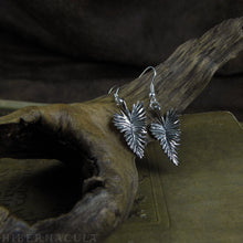 Load image into Gallery viewer, Grace -- Feather Earrings in Bronze or Silver | Hibernacula