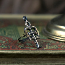 Load image into Gallery viewer, Anima Mundi -- Alchemy Ring in Bronze or Silver | Hibernacula