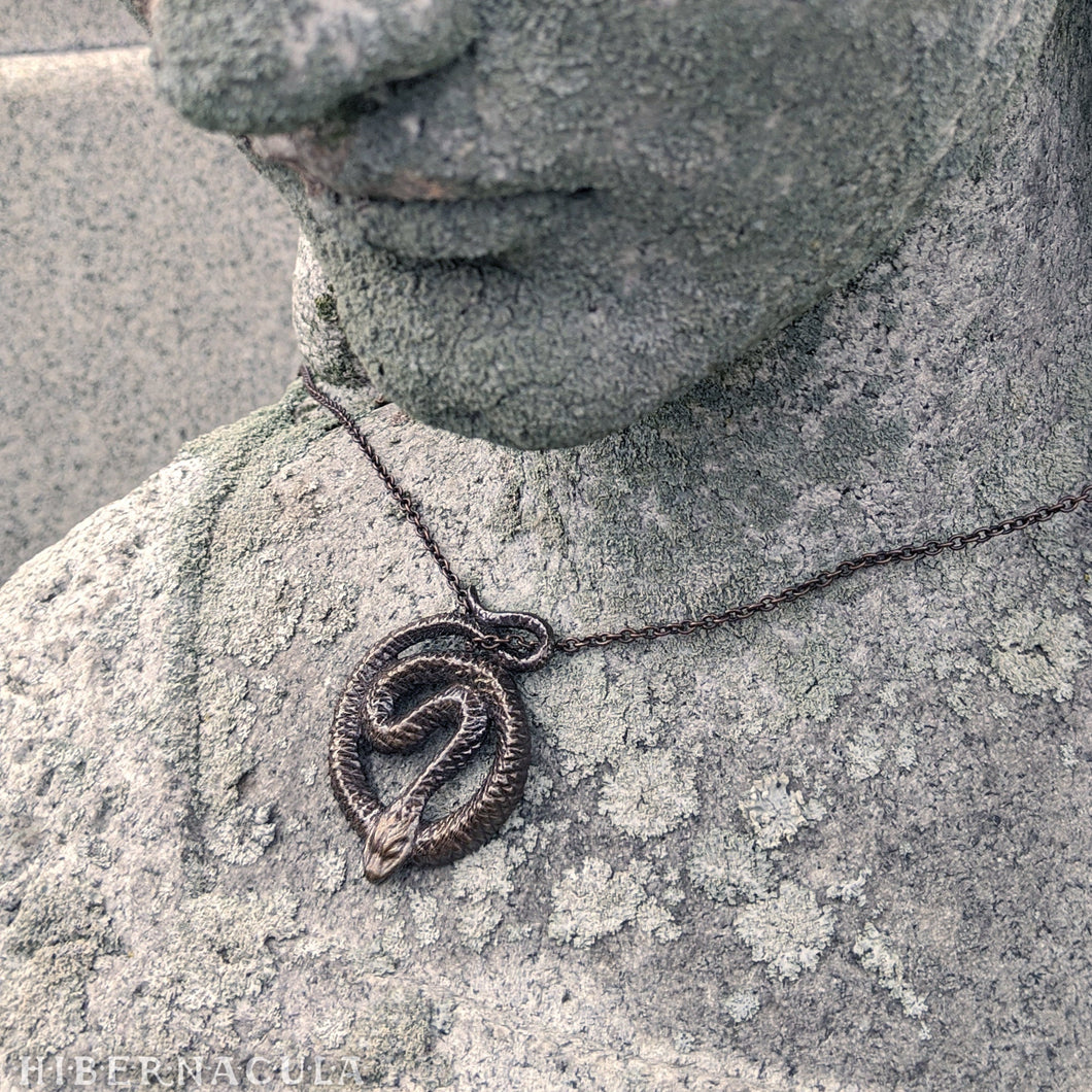 The Serpent's Circle -- Pendant in Sterling Silver or Bronze | Hibernacula