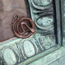 Load image into Gallery viewer, The Serpent's Circle -- Pendant in Sterling Silver or Bronze | Hibernacula