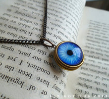 Load image into Gallery viewer, Spherical Numina Iris Pendant -- True Blue, Large | Hibernacula