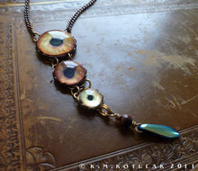 Load image into Gallery viewer, Fearsome Predator -- Numina Iris Necklace | Hibernacula