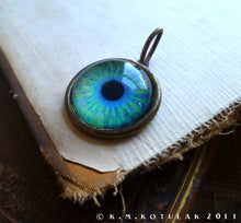 Load image into Gallery viewer, Iris Charm -- Aquamarine / Large Pendant | Hibernacula