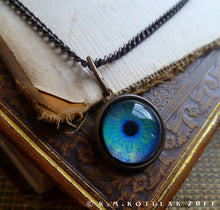 Load image into Gallery viewer, Iris Charm -- Aquamarine / Medium Pendant | Hibernacula