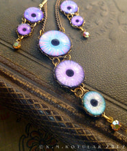 Load image into Gallery viewer, Azure -- Numina Iris Necklace & Earring Set | Hibernacula
