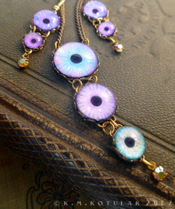 Azure -- Numina Iris Necklace & Earring Set | Hibernacula