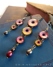 Load image into Gallery viewer, Aesop's  Heart -- Numina Iris Necklace & Earring Set | Hibernacula