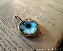 Load image into Gallery viewer, Iris Charm -- Lagoon Blue / Medium Pendant | Hibernacula